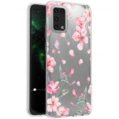 iMoshion Coque Design Samsung Galaxy A02s - Fleur - Rose