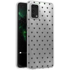iMoshion Coque Design Samsung Galaxy A02s - Cœurs - Noir