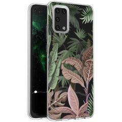 iMoshion Coque Design Samsung Galaxy A02s - Jungle - Vert / Rose