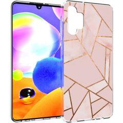 iMoshion Coque Design Galaxy A32 (5G) - Cuive graphique - Rose /Dorée