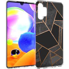 iMoshion Coque Design Galaxy A32 (5G) - Cuive graphique - Noir /Dorée