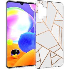 iMoshion Coque Design Galaxy A32 (5G) - Cuive graphique - Blanc/Dorée