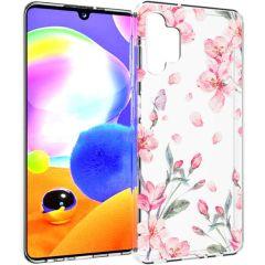 iMoshion Coque Design Samsung Galaxy A32 (5G) - Fleur - Rose