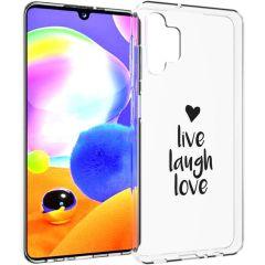 iMoshion Coque Design Samsung Galaxy A32 (5G) - Live Laugh Love