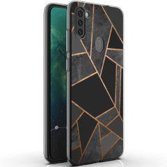 iMoshion Coque Design Galaxy M11 / A11 - Cuive graphique - Noir/Dorée