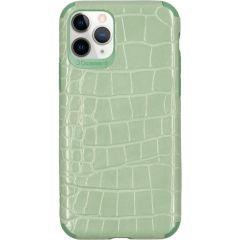 My Jewellery Coque silicone Croco iPhone 11 Pro - Vert