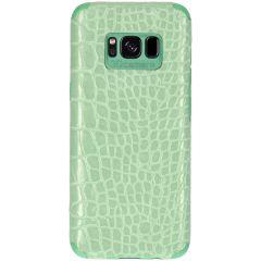 My Jewellery Coque silicone Croco Samsung Galaxy S8 - Vert