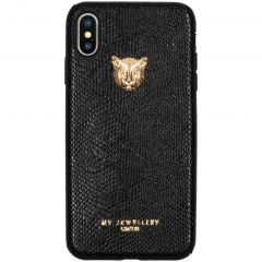 My Jewellery Coque silicone Tiger iPhone Xs Max - Noir