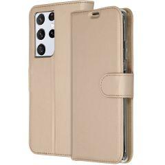 Accezz Étui de téléphone Wallet Galaxy S21 Ultra - Dorée