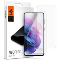 Spigen Protection d'écran Neo Flex Solid Duo Pack Galaxy S21