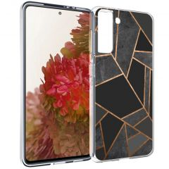 iMoshion Coque Design Galaxy S21 - Cuive graphique - Noir / Dorée
