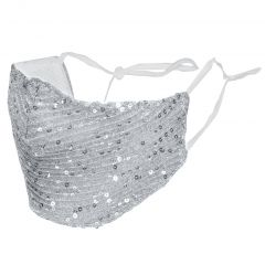 iMoshion Luxueux masque bling bling lavable et réutilisable - Argent