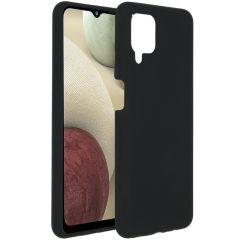 Accezz Coque Liquid Silicone Samsung Galaxy A12 - Noir