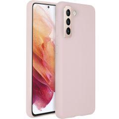 Accezz Coque Liquid Silicone Samsung Galaxy S21 - Rose