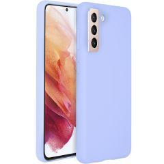 Accezz Coque Liquid Silicone Samsung Galaxy S21 - Violett