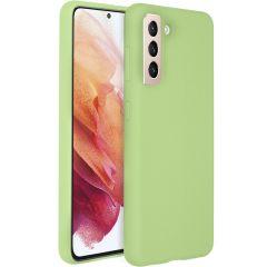Accezz Coque Liquid Silicone Samsung Galaxy S21 - Vert