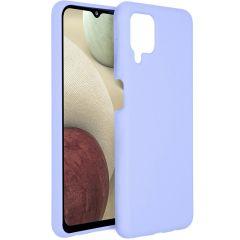 Accezz Coque Liquid Silicone Samsung Galaxy A12 - Violet