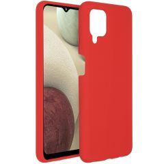 Accezz Coque Liquid Silicone Samsung Galaxy A12 - Rouge
