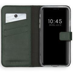 Selencia Étui de téléphone en cuir véritable iPhone Xs