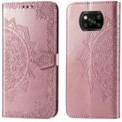 iMoshion Etui de téléphone portefeuille Mandala Xiaomi Poco X3 (Pro) - Rose