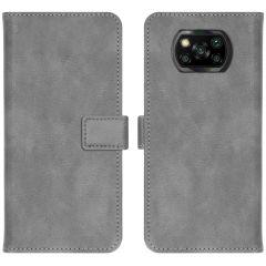 iMoshion Étui de téléphone portefeuille Luxe Xiaomi Poco X3 (Pro) - Gris