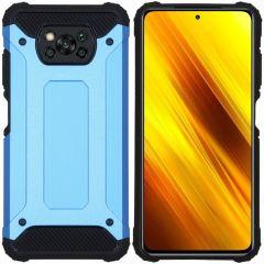 iMoshion Coque Rugged Xtreme Xiaomi Poco X3 (Pro) - Bleu clair