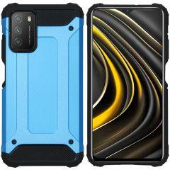 iMoshion Coque Rugged Xtreme Xiaomi Poco M3 - Bleu clair
