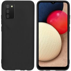 iMoshion Coque Color Samsung Galaxy A02s - Noir