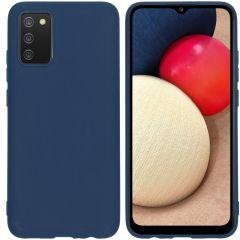 iMoshion Coque Color Samsung Galaxy A02s - Bleu foncé