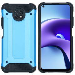 iMoshion Coque Rugged Xtreme Xiaomi Redmi Note 9T (5G) - Bleu clair