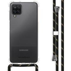 iMoshion Coque avec cordon Samsung Galaxy A12 - Noir / Dorée