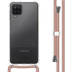 iMoshion Coque avec cordon Samsung Galaxy A12 - Rose Champagne