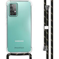 iMoshion Coque avec cordon Galaxy A52(s) (5G/4G) - Noir / Dorée