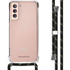 iMoshion Coque avec cordon Samsung Galaxy S21 - Noir / Dorée