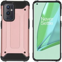 iMoshion Coque Rugged Xtreme OnePlus 9 Pro - Rose Champagne
