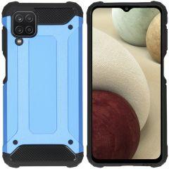 iMoshion Coque Rugged Xtreme Samsung Galaxy A12 - Bleu clair