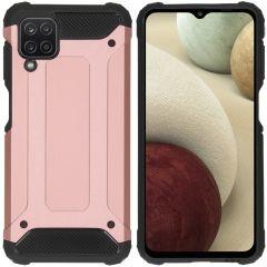 iMoshion Coque Rugged Xtreme Samsung Galaxy A12 - Rose Champagne
