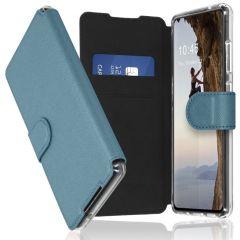 Accezz Étui de téléphone Xtreme Wallet Galaxy A72 - Bleu clair