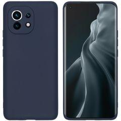 iMoshion Coque Color Xiaomi Mi 11 - Bleu foncé