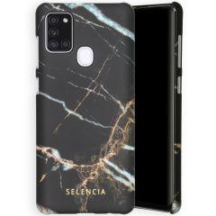 Selencia Coque Maya Fashion Samsung Galaxy A21s - Marble Black