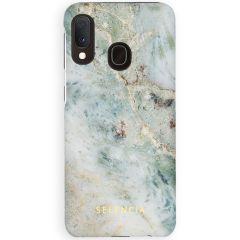 Selencia Coque Maya Fashion Samsung Galaxy A20e - Marble Blue