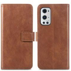 iMoshion Étui de téléphone portefeuille Luxe OnePlus 9 Pro - Brun