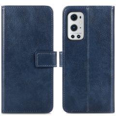 iMoshion Étui de téléphone portefeuille Luxe OnePlus 9 Pro-Bleu foncé