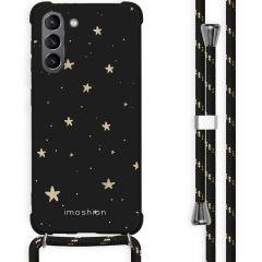 iMoshion Coque Design avec cordon Galaxy S21 - Etoiles - Noir / Dorée