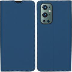 iMoshion Étui de téléphone Slim Folio OnePlus 9 Pro - Bleu Foncé