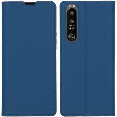 iMoshion Étui de téléphone Slim Folio Sony Xperia 1 III - Bleu foncé