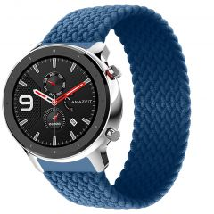iMoshion Bracelet en nylon tressé Amazfit GTR - Bleu foncé