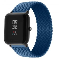 iMoshion Bracelet en nylon tressé Amazfit GTS / BIP - Bleu foncé