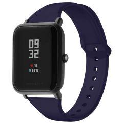 iMoshion Bracelet silicone Amazfit GTS / BIP - Bleu foncé