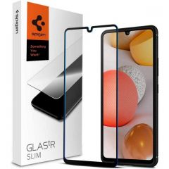 Spigen Protection d'écran GLAStR Samsung Galaxy A42 - Noir